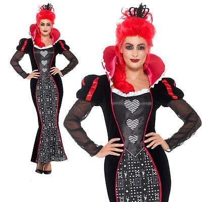 Dunkel Alice Im Wunderland Damen Damenkostüm Halloween - Schwarz Alice Im Wunderland Kostüme