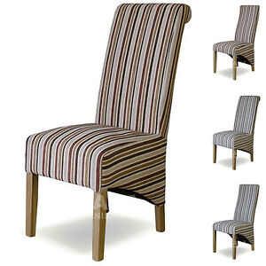 striped dining chairs solid oak high quality dining room furniture