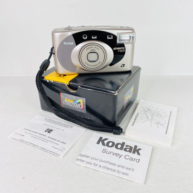 Kodak Advantix F600 30-60mm 2.0x Ektanar Aspheric Lens Silver FILM CAMERA w/ Box