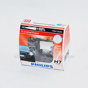 PHILIPS H7 X-treme Vision +100% +35m Bulbs -OZ Seller