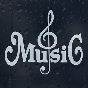 Music treble clef car graphic decal vinyl adhesive external sticker ebay - Sol vinyle autocollant ...