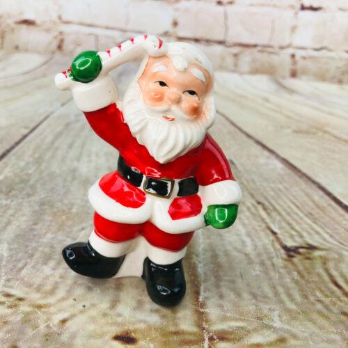 Vintage Napco Potteries Christmas Santa Claus Salt Or Pepper Shaker Holiday