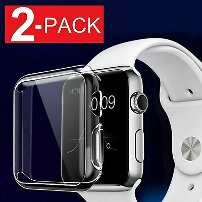 For Apple Watch Series 2 3 4 Soft Clear Bumper Case Full Screen Cover Protector Cases, Covers & Skins