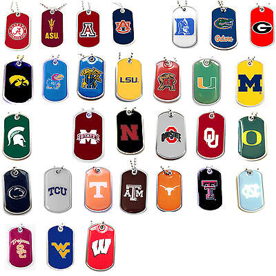 dog tag necklace NCAA PICK YOUR TEAM not a cheap gumball machine tag - Cheap Gumball Machine