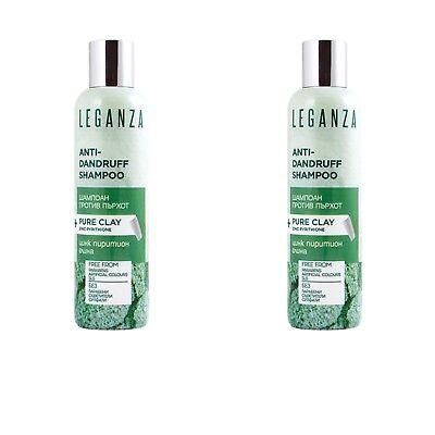 Erde Farbton (2x 200 ml Antischuppen Shampoo Zink Tonerde Clay 0% Parabene Farbstoffe Sulfat)