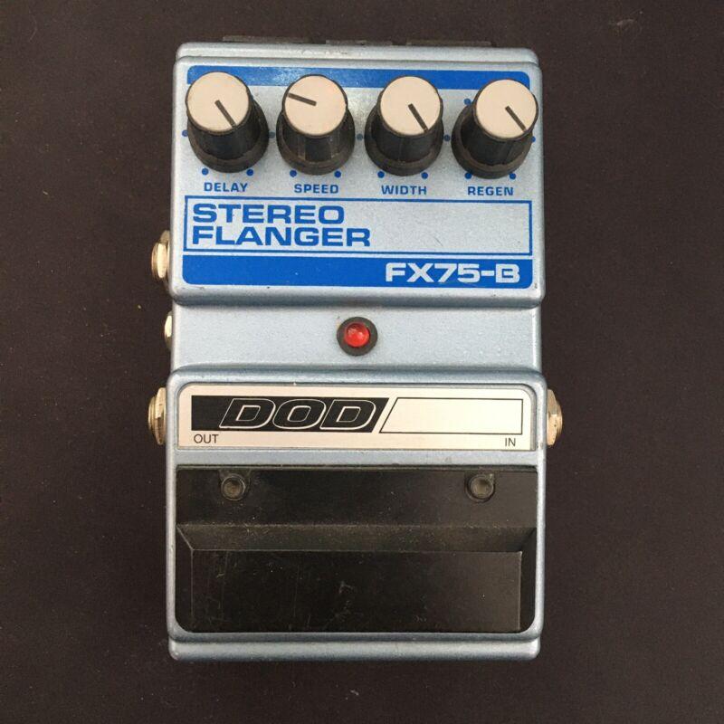 DOD FX75-B Stereo Flanger Vintage Guitar Effects Pedal
