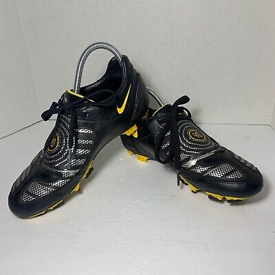 Nike Total 90 Shoot ll FG Soccer Cleats Black/Metallic  318887-007 Size US 8