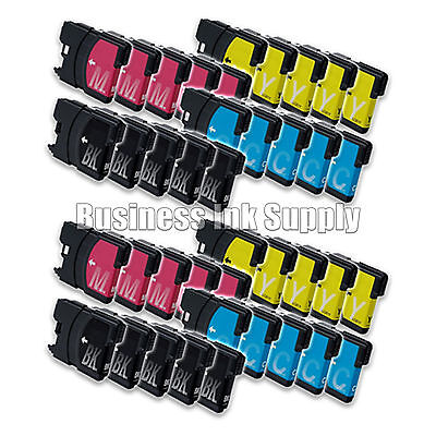 40 Pack Lc61 Ink Cartridges For Brother Mfc-490cw Mfc-495...