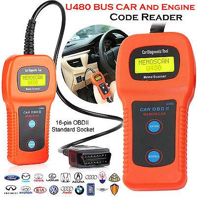 U480 Scanner Car Fault Code Reader CAN BUS OBD2 EOBD Engine Diagnostic Tool UK