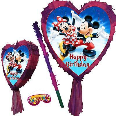 Mickey Minnie Birthday Pinata Party Stick Disney Junior Mouse UK Clubhouse theme - Minnie Mouse Pinatas