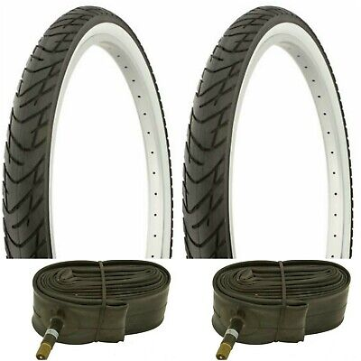 "2-26x2.125 Beach Cruiser Bicycle White Wall Tires /& 2-26/"" Tubes Balloon tires"