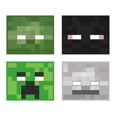 NEW MINECRAFT BIRTHDAY PARTY 8 MASKS Favors Creeper Enderman Giant Skeleton - Creeper Party Supplies