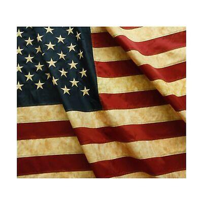 Vintage Style Tea Stained American US Flag 3x5 Foot Nylon Em