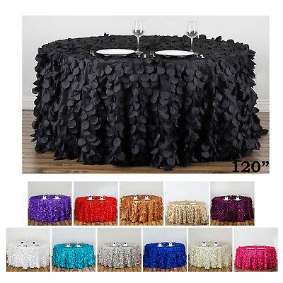 120 Round Tablecloth (Vibrant Flamingo Petals 120 Round Tablecloth For Wedding Party Banquet)