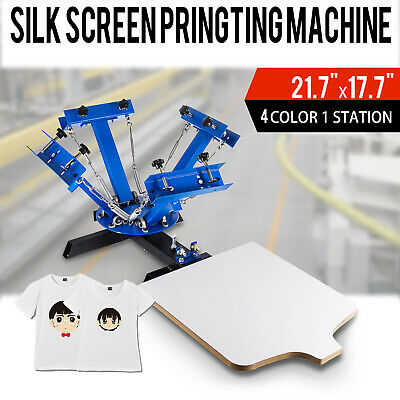 4 Color 1 Station Silk Screen Printing Pressing Machine Printer Screening Print