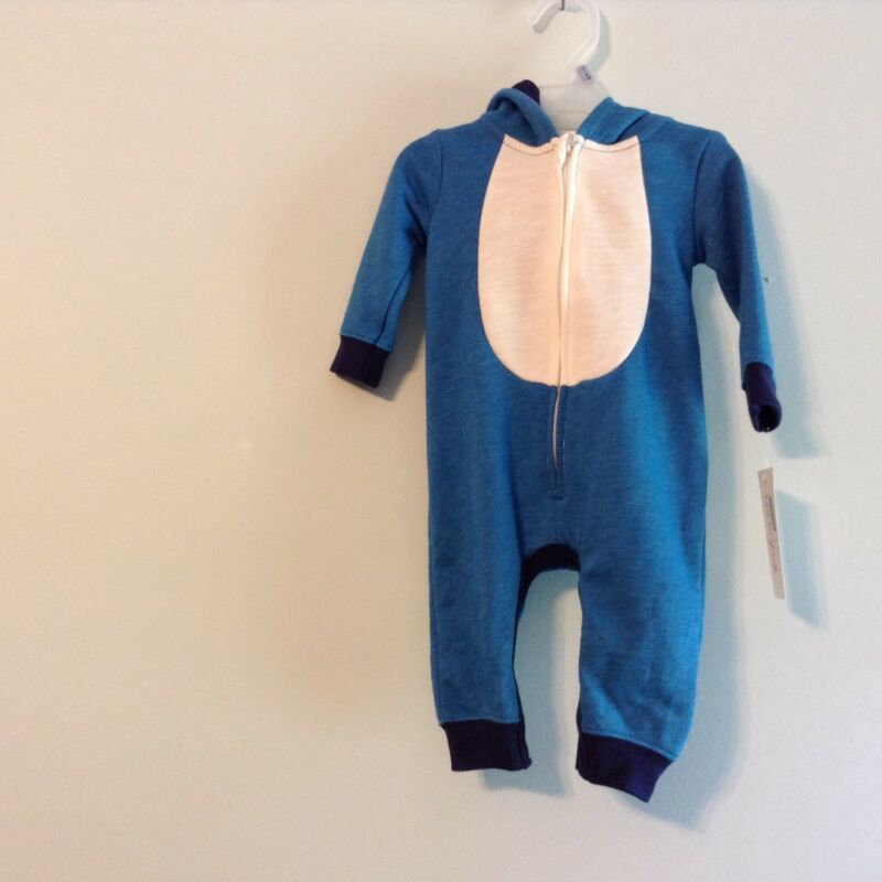 Cat & Jack 3 to 6 Month 1 Piece Play Outfit Blue/White With Hood