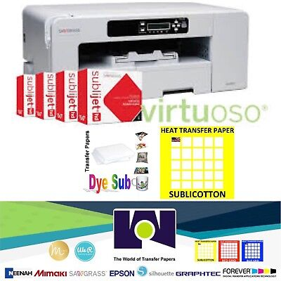 Sawgrass Virtuoso Sg800 Printer Cmyk Ink 100 Sh Each Sublipaper Sublicotton