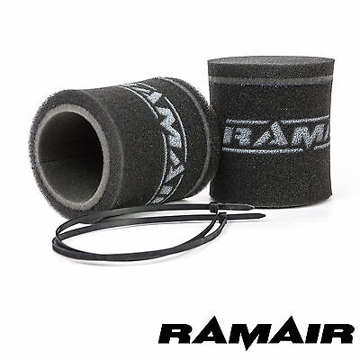 RAMAIR 2 x Carb Trumpet Velocity Stack Sock Air Filters 102mm Weber DCOE 40/45