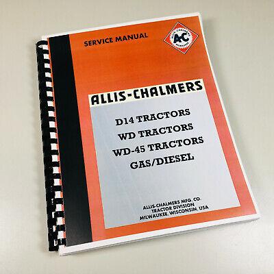 Allis Chalmers Wd Wd45 Gasdiesel Tractor Service Repair Shop Manual Book