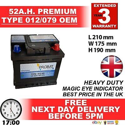 012 CAR BATTERY O.E.M. QUALITY 12V EXTRA HEAVY DUTY100% MAINTENANCE FREE 24HRDEL