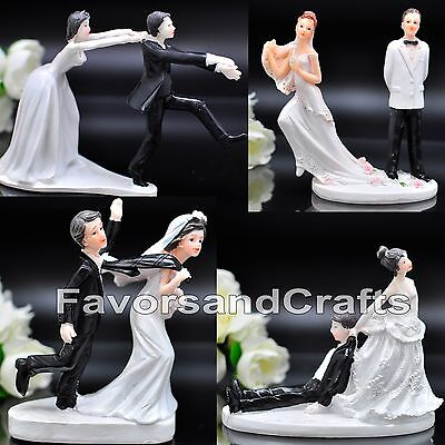 Bride Cake Topper - Funny Wedding Cake Toppers Figurine Bride Groom Humor Favor Marriage Gift Topper