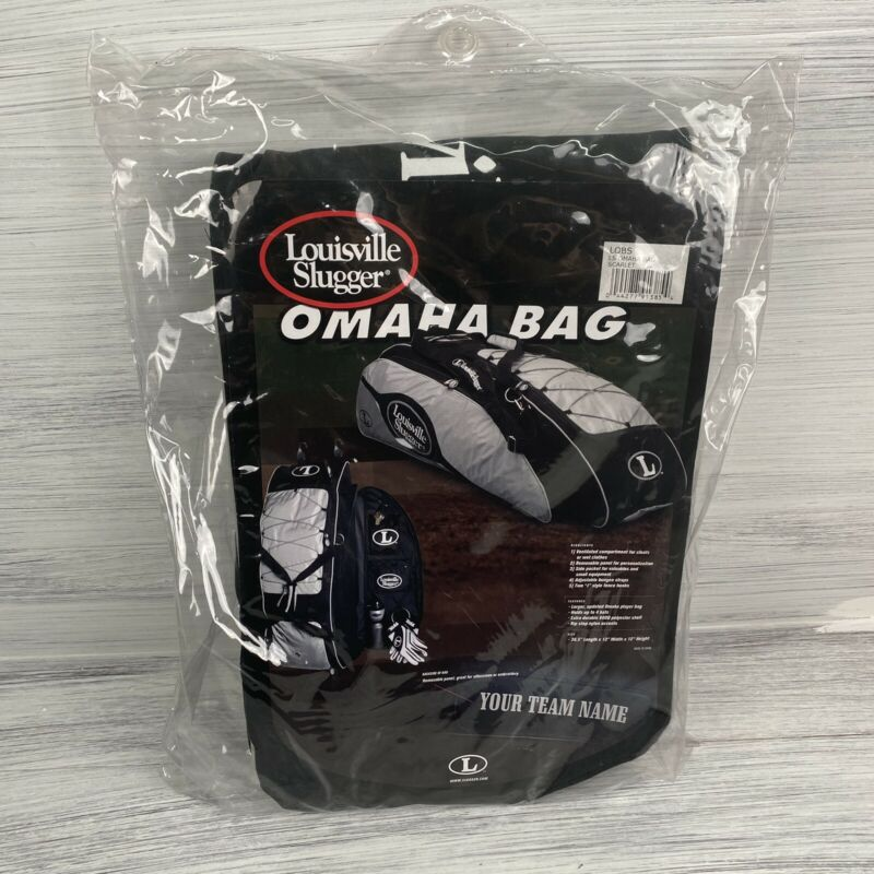 Louisville Slugger Omaha Bag  Scarlet Red Black Baseball Bat Bag New Sealed