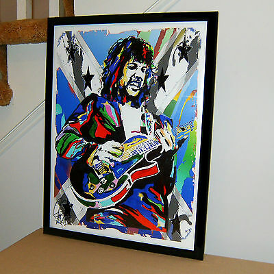 Steve Gaines Lynyrd Skynyrd Guitar Rock Music Poster Print Wall Art 18x24