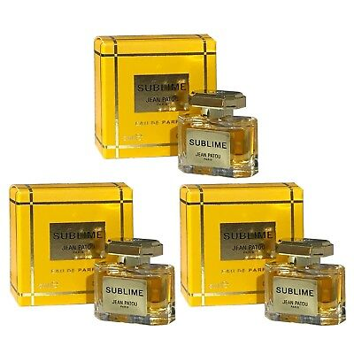 Miniature Mini Jean Patou Sublime 5ml EDP x3 Travel Perfume Women Christmas