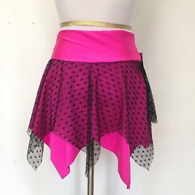 Raver Costumes (Wetlook Skirt Size SMALL Pink Fishnet Raver Burning Cosplay Costume Man Gothic)