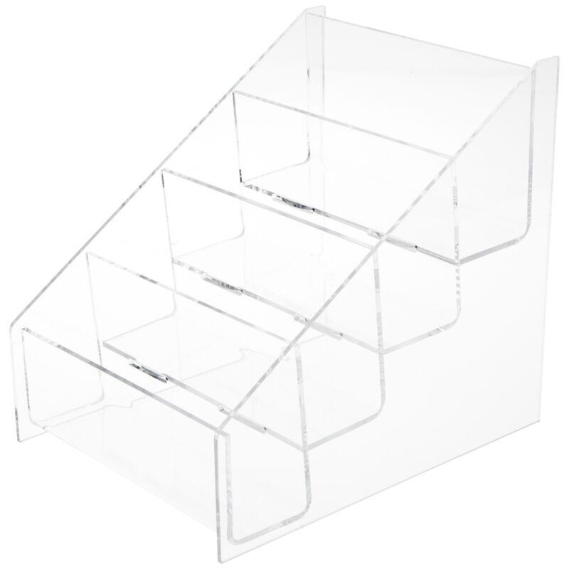 "Plymor Acrylic 4-Level Postcard Rack (Countertop), Fits 5.8"" x 4.1"" Items"