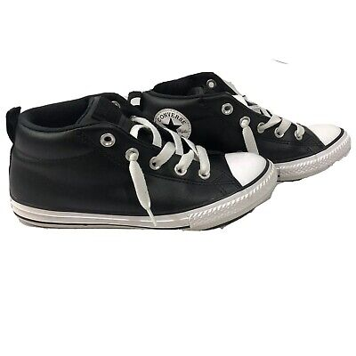 Converse All Star Chuck Taylor Black Patent Leather High Top Shoes Boys Size 3 Boys Black Patent Leather