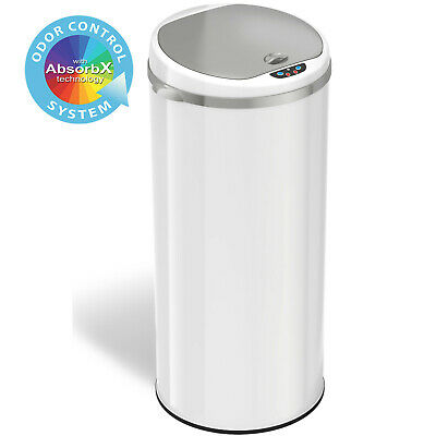 13 Gallon Touchless Sensor Trash Can with Odor Filter System, for Home & Kitchen Trash Can Odor