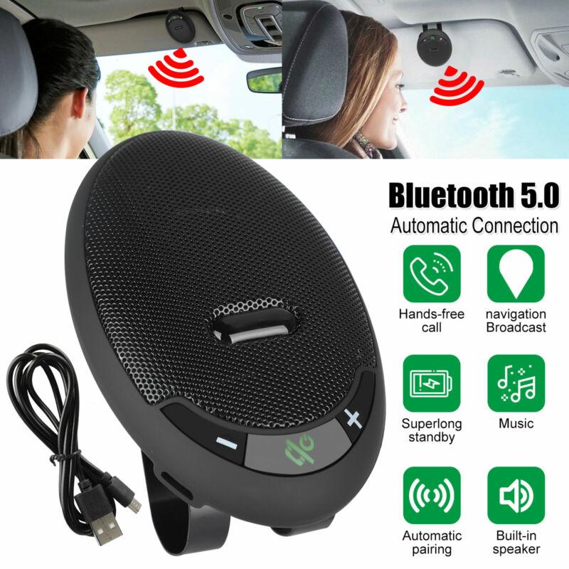 Wireless Music Car Bluetooth V5.0 Handsfree Speaker Sun Visor for Cell Phone