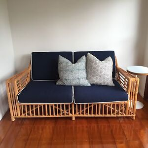 Hamptons Byron Bay 2.5 Seater Rattan Sofa New Farm Brisbane North East Preview