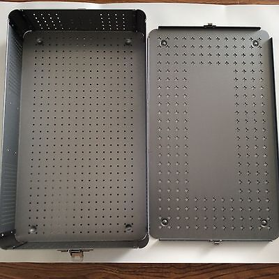 New Aluminium Alloy Sterilization Tray Box Case 50cm Long Surgical Instrument