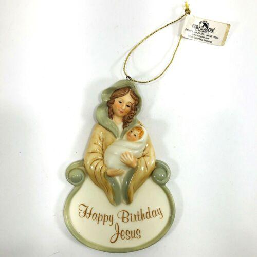 Happy Birthday Jesus Religious Christmas Ornament Mary Porcelain Kurt Adler