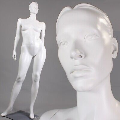Patina V Mannequin Plus Size White Full Size Female Semi Realistic Face Curvy