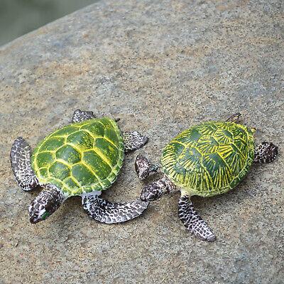 2 x Turtle Realistic Ocean Animals Model Sea Life Figurines Educational Kids -