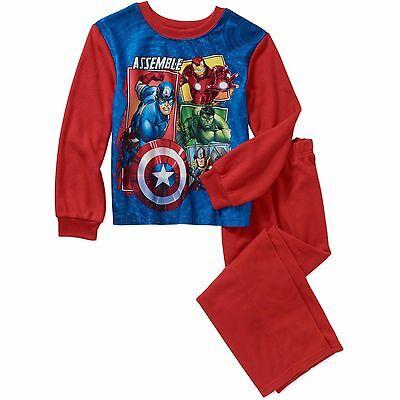 NEW BOYS KIDS Avengers 2 PIECE Night SLEEPWEAR Pajama HULK IRON MAN THOR 6-16 - Kids Avengers