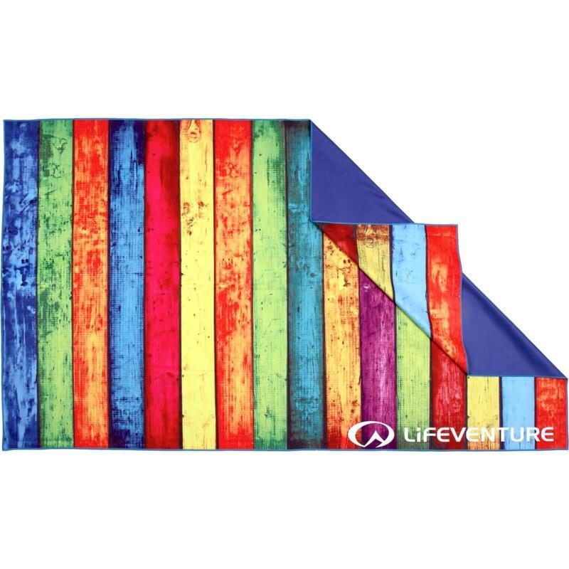 Lifeventure SoftFibre Trek Towel - Striped Planks