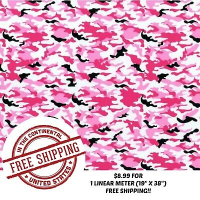 Hydrographic Water Transfer Hydro Dip Pink Camo Film 1m 19 X 38
