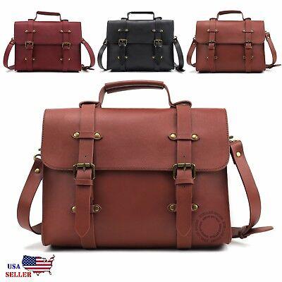 Women's Classic Vintage Crossbody Messenger Bag Satchel Shoulder Purse Handbag Classic Vintage Messenger Bag