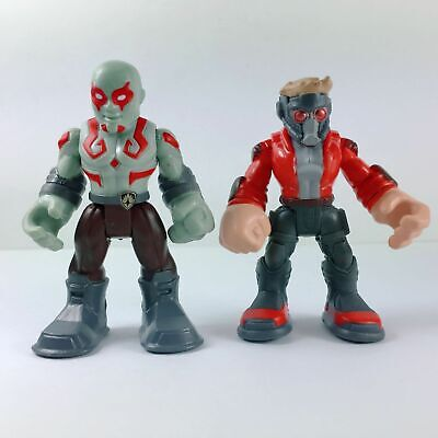2pcs Playskool Marvel Super Hero Adventures Star Lord & Drax Hasbro - Super Hero Star