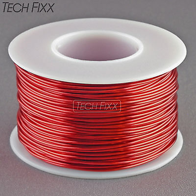 Magnet Wire 20 Gauge Enameled Copper 132 Feet Coil Winding and Crafts Red
