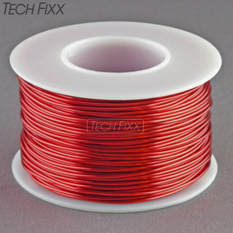 Magnet Wire 20 Gauge Enameled Copper 158 Feet Coil Winding and Crafts Red