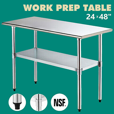 24x 48 Work Prep Table Commercial Stainless Steel Nsf Food Kitchen Restaurant