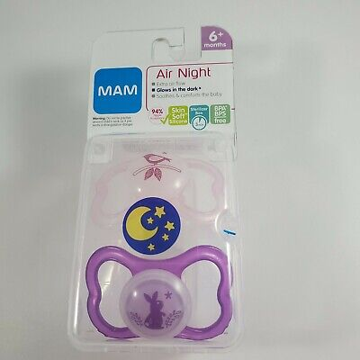 Mam air night 6+ months pacifier New birds rabbit. Glow in the Dark