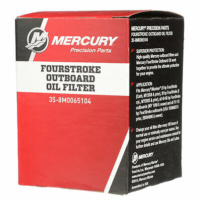 MERCURY MARINE REPLACEMENT 4-STROKE OUTBOARD OIL FILTER (Mercury Marine Oil Filter)