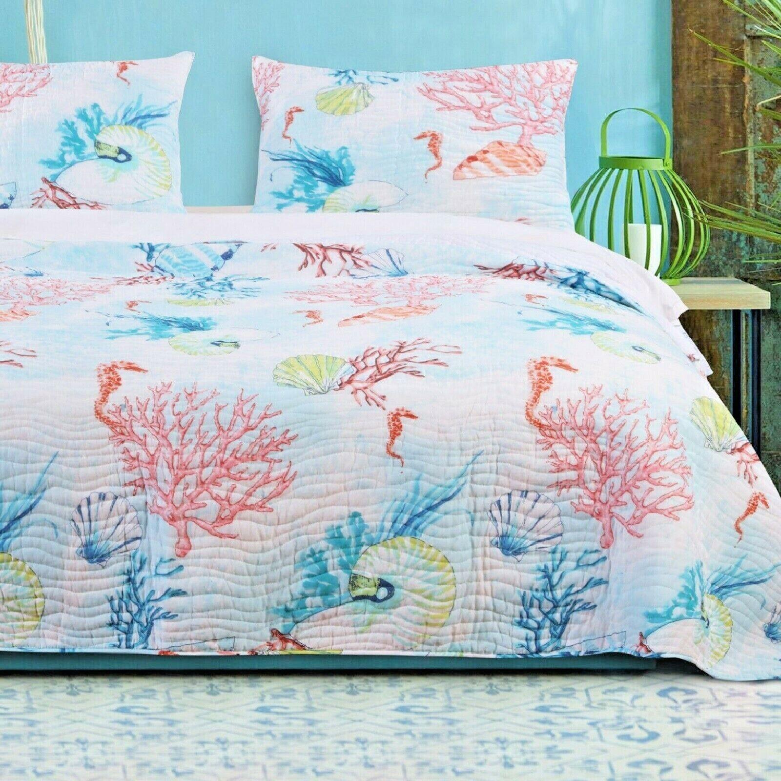 queen quilt set coastal bedding comforter soft