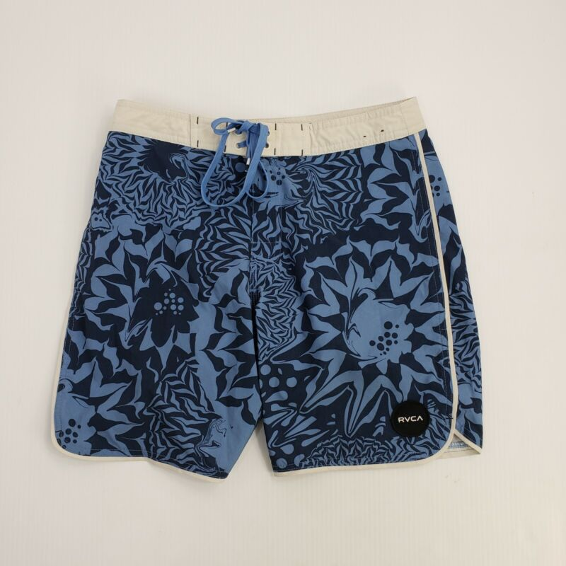 RCVA VA Board Shorts Boys Youth 28 Waist Abstract Floral Swim Trunks Surfing